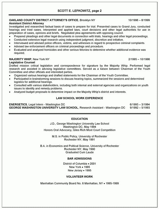 Simple Law School featuring Work Experience for Attorney Resume ...