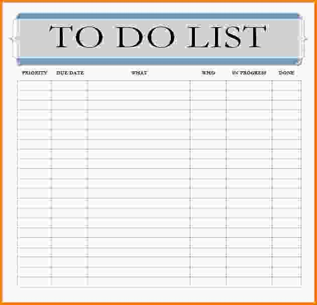 10+ to do list template word | Letter Template Word