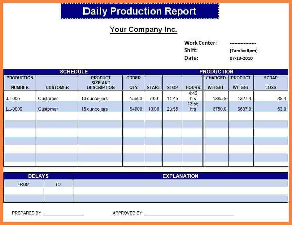 11+ daily report format in excel | Bussines Proposal 2017