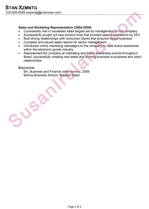 Resume: Business Development / Operations - Susan Ireland Resumes