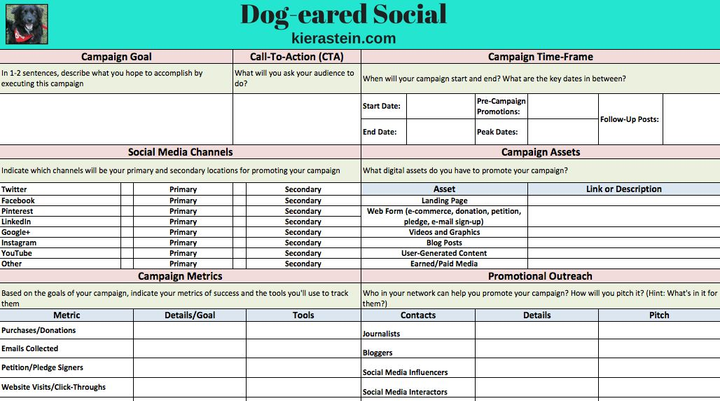Download your social media campaign template for your next initiative
