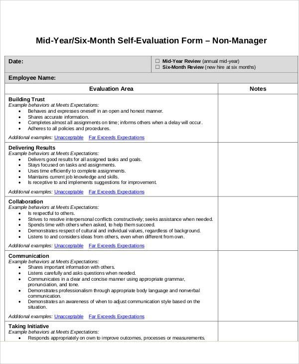7+ Employee Self Assessment Samples   Examples In Word, PDF