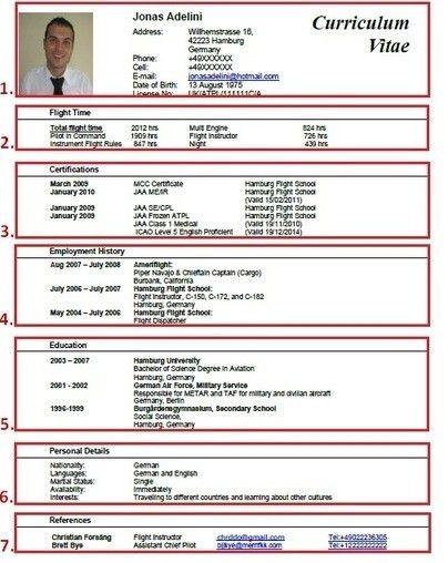 Sample Pilot Resume] Professional Pilot Resume Template ...