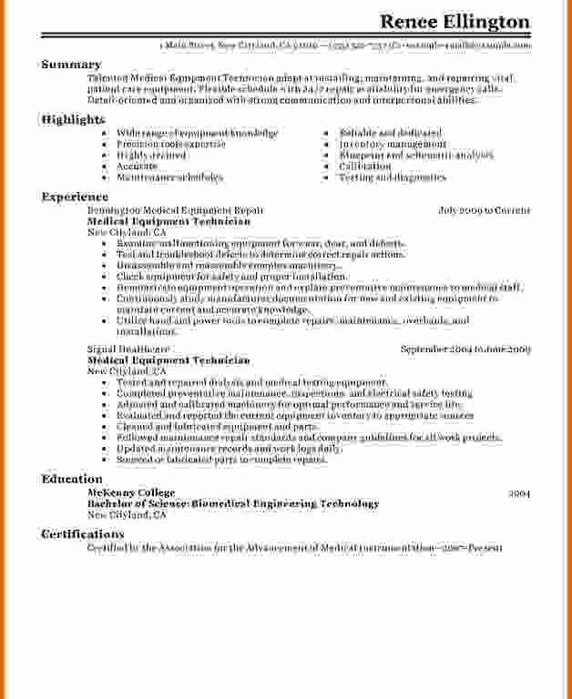 Nice Dialysis Technician Resume 5 5 Objective - Resume Example