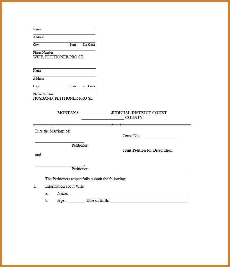 printable divorce papers | notary letter