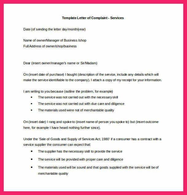 letter of complaint sample | bio letter format