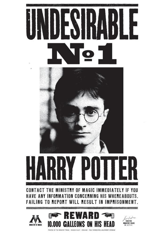 Image - Undesirable No. 1 Harry Potter poster 01.jpg | Harry ...