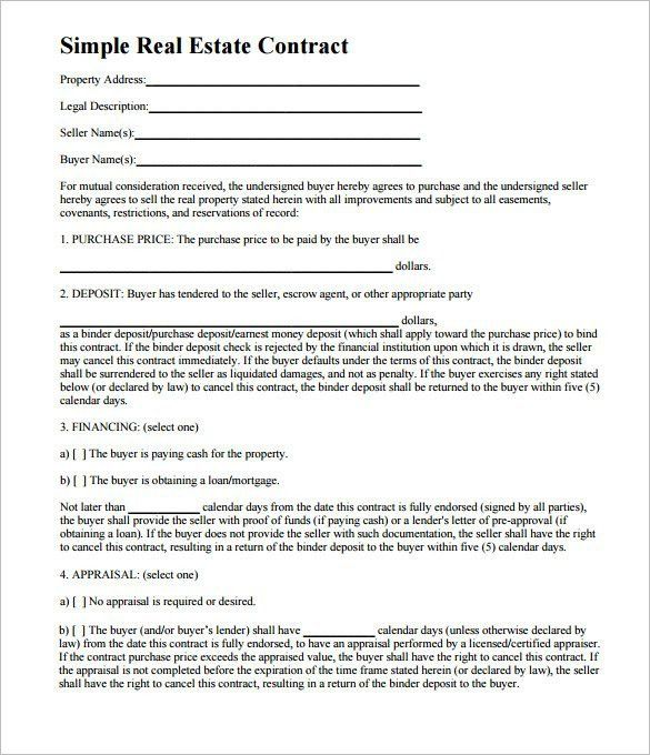 Free Real Estate Purchase Agreement Template | Template Design