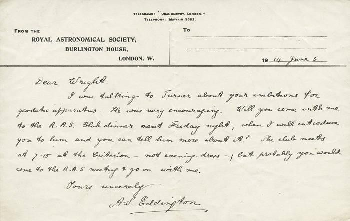 SIR ARTHUR EDDINGTON (1882-1944, British astrophysicist), nice ...
