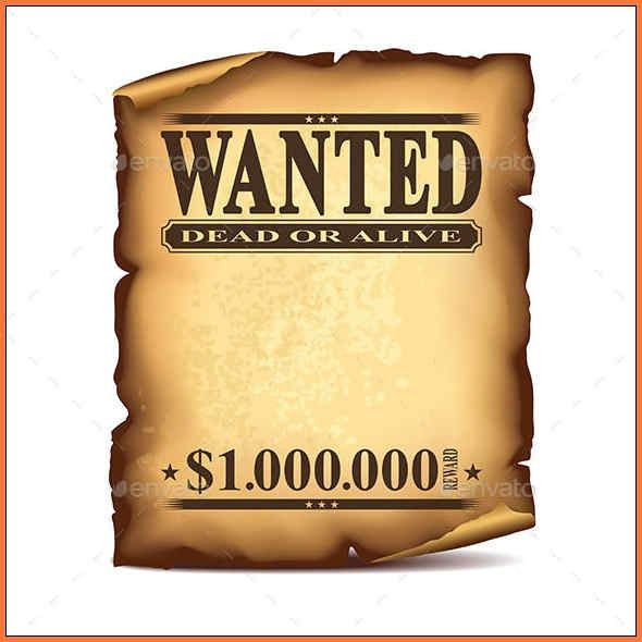 Wanted Poster Template Publisher Wanted Poster Template 19 – Sample Wanted Poster