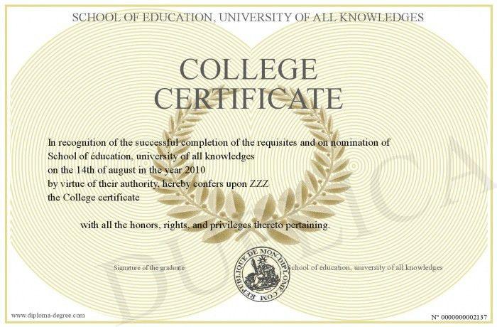 College-certificate