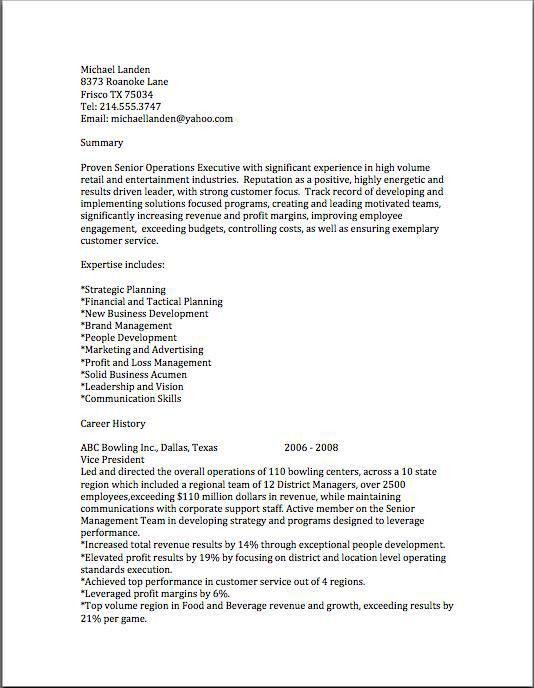 The Abundant Success Coach My Resume Samples | The Abundant ...