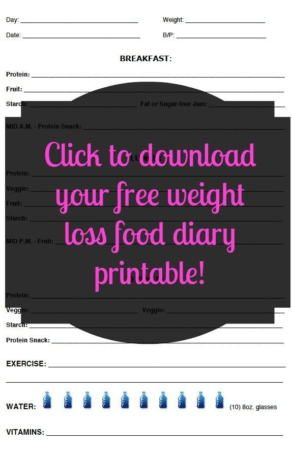 Free & Customizable Weight Loss Journal Printable | xtine danielle