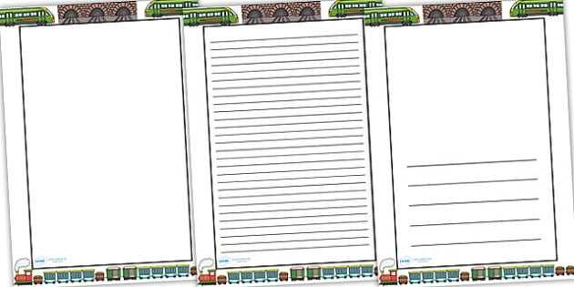 Train Themed Page Borders - border, page border, a4 border