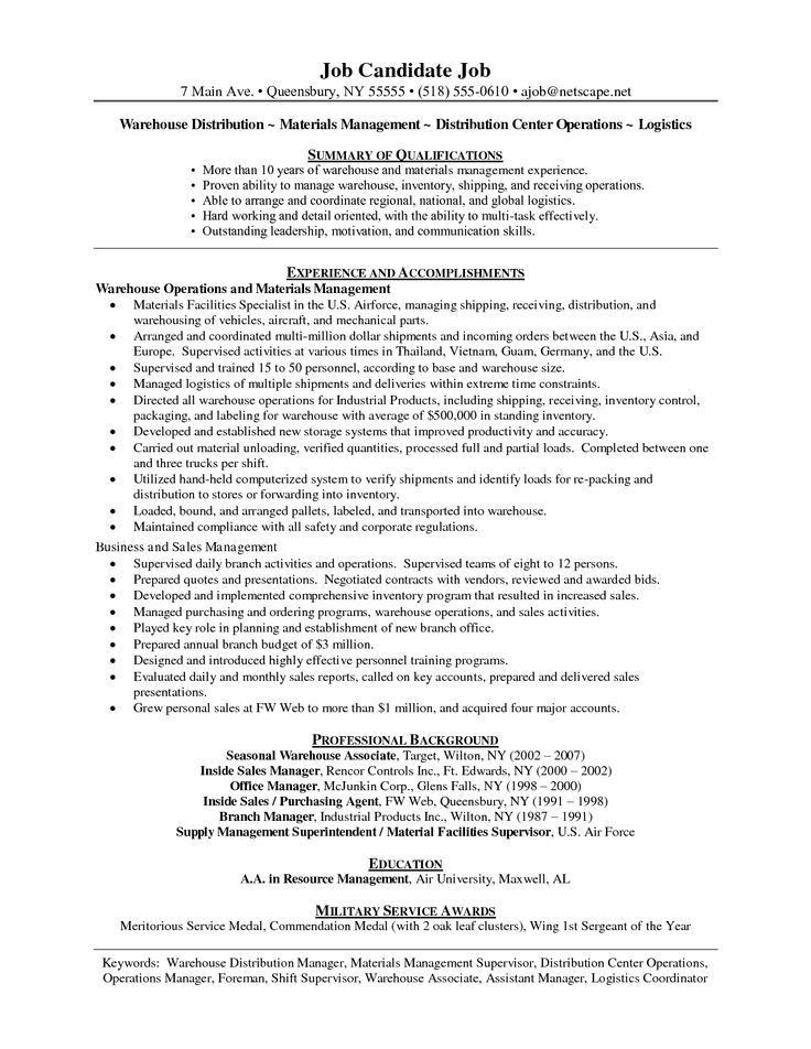 warehouse resume template unforgettable warehouse associate