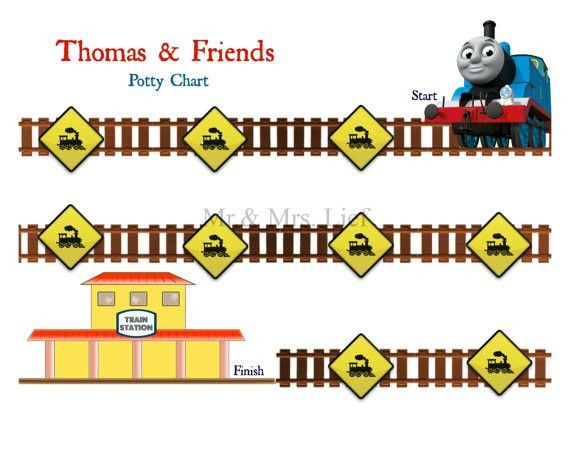 Thomas and Friends Printable Potty Chart Potty Training by MrLief ...