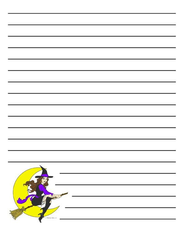 Halloween Blank Writing Sheet U2013 Festival Collections  Blank Writing Sheet