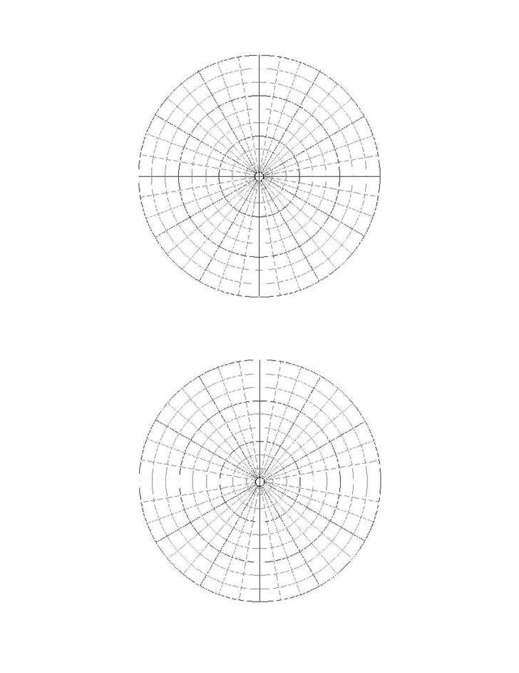 Polar Coordinate Graph Paper Sample Free Download