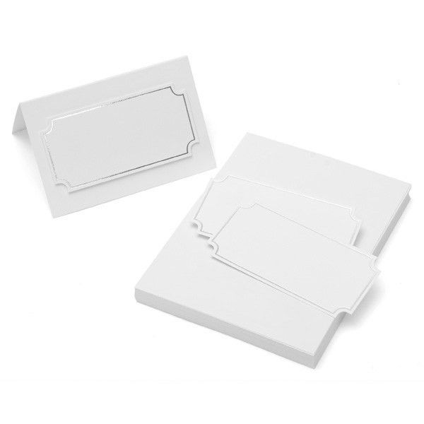 SILVER FOIL PLACE CARDS 50CT | Gartner Studios