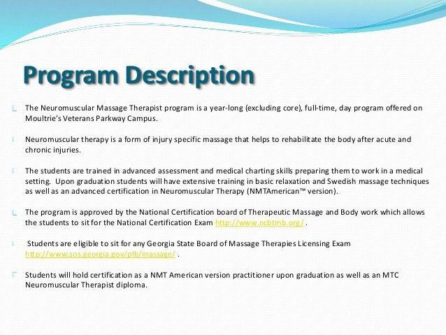 Neuromuscular Massage Therapist program power point