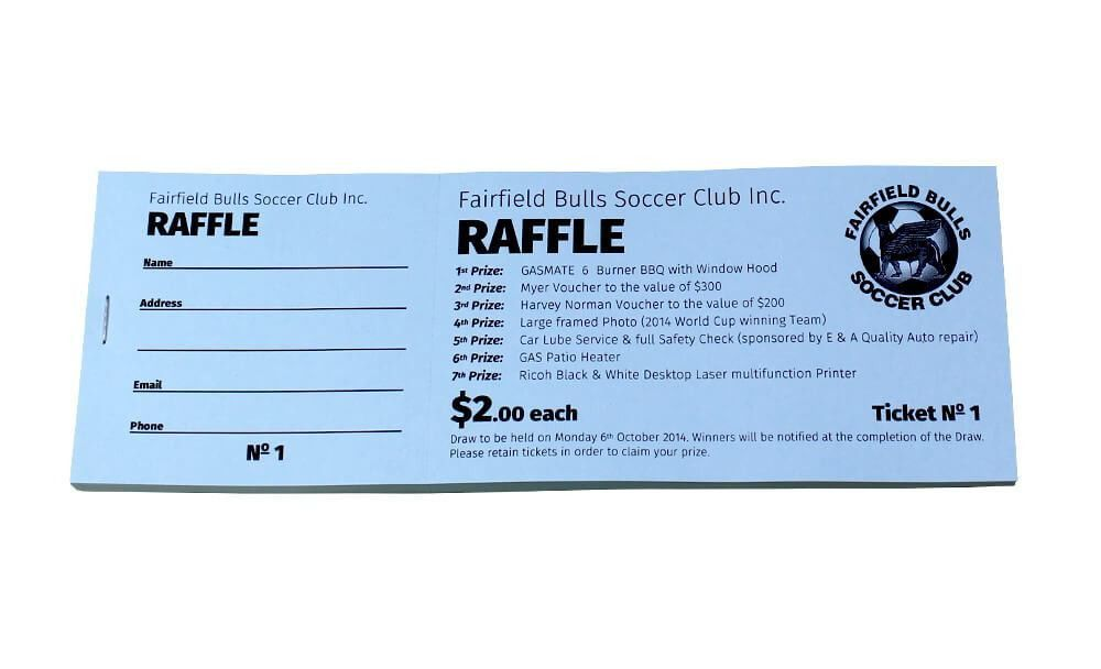 Sample Raffle Ticket Designs | Budget Raffle Tickets