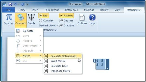 Word 2010 And OneNote 2010 Mathematics Add-in