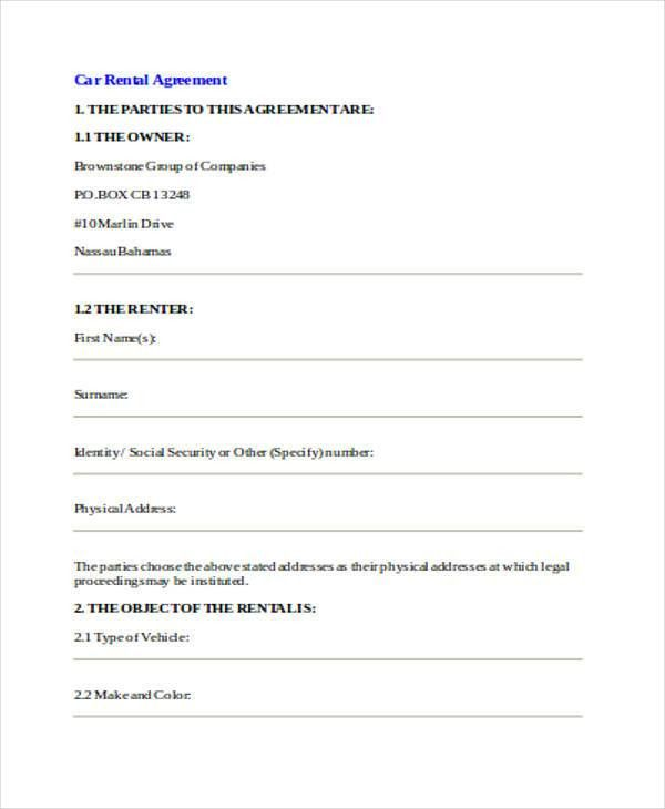 Simple Rental Agreement Template  BesikEightyCo