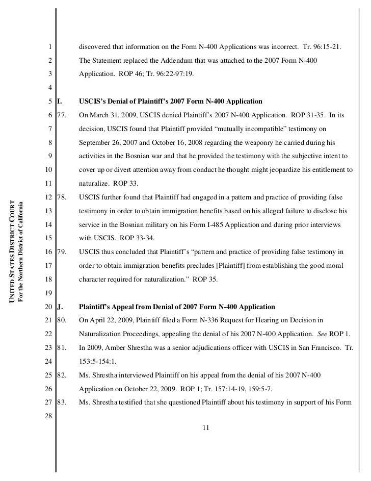 Hajro v Barrett (USCIS-SFR) N-400 appeal granted 3-21-2012