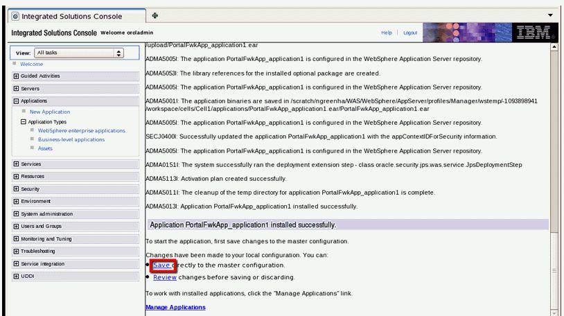 Managing Oracle WebCenter Portal on IBM WebSphere