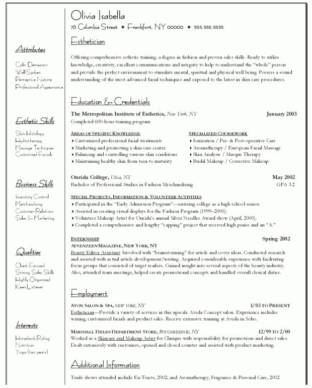 10 cosmetology resume samples you must see sample resumes ...