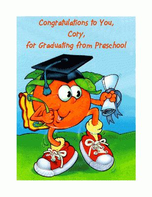 Preschool Graduation Greeting Card - Graduation Printable Card ...