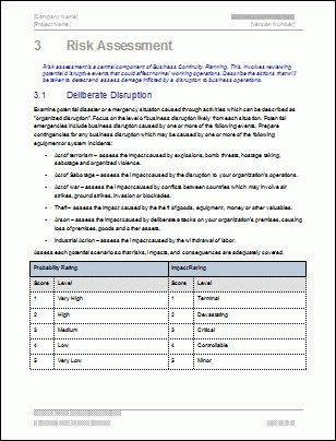 Business Continuity Plan Template (48 pages Word, 12 Excel)
