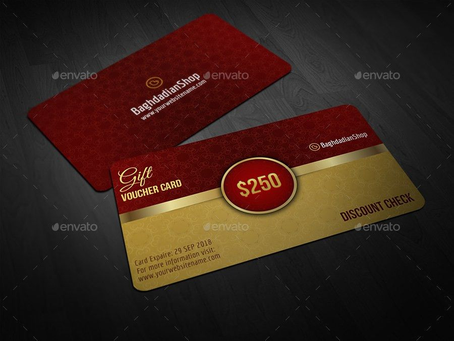 Gift Voucher Card Template Vol 21 by OWPictures   GraphicRiver