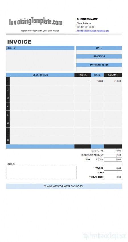 Download Invoice Template Labor | rabitah.net