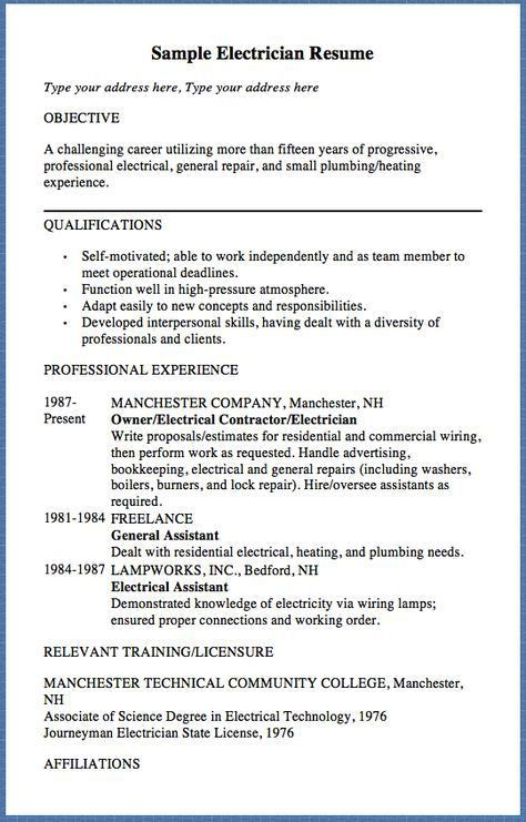 Plumbing Resume [Template.billybullock.us ]