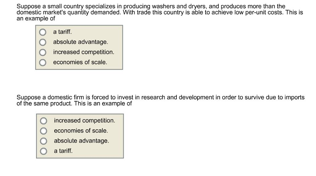 Suppose A Small Country Specializes In Producing W...   Chegg.com
