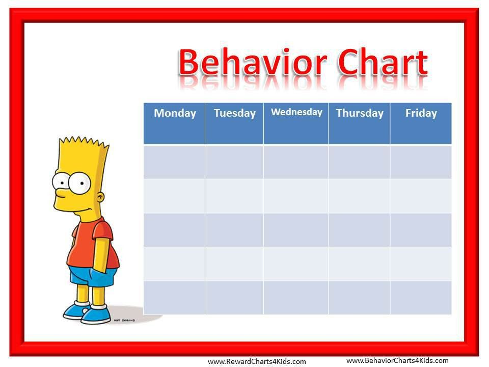 Smiley Face Behavior Charts for Weekly | Behaviour Charts ...