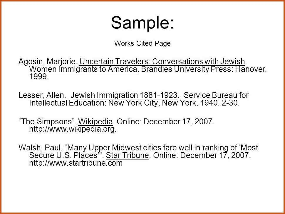 example of works cited page | sop example