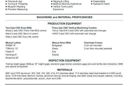 Machinist Mate Resume - Reentrycorps
