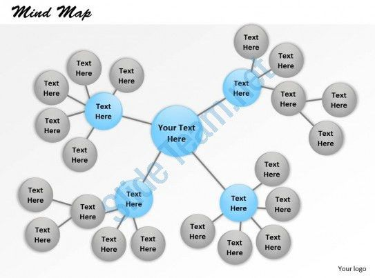 Mind Map Powerpoint Template Slide | PowerPoint Slide Clipart ...