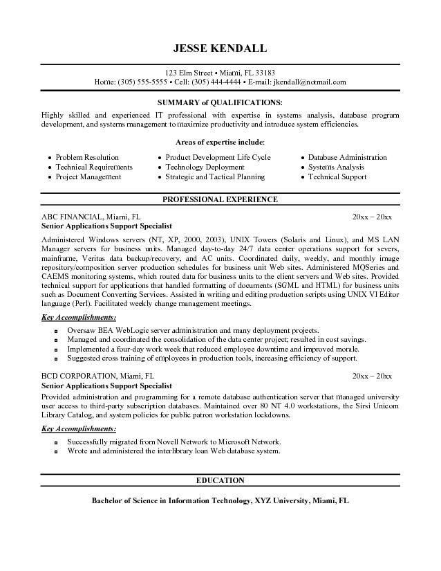 a resume for a job application