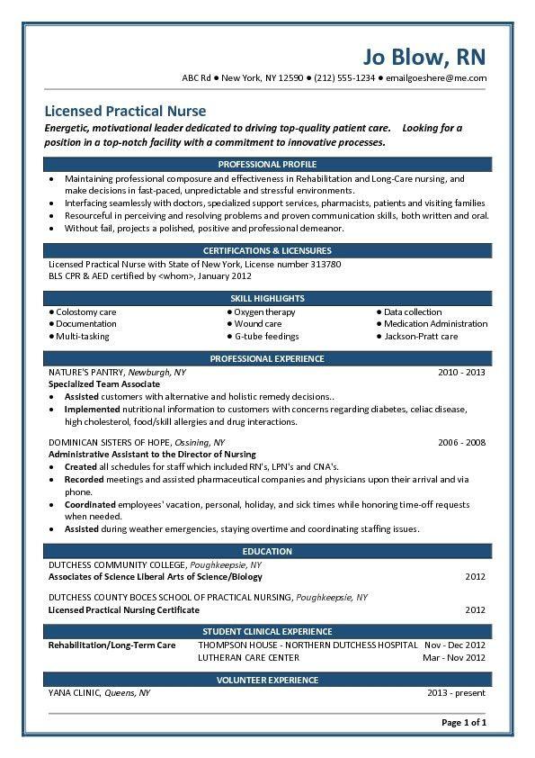 Graduate Nurse Resume Example. Nursing Resume New Grad Nurse ...