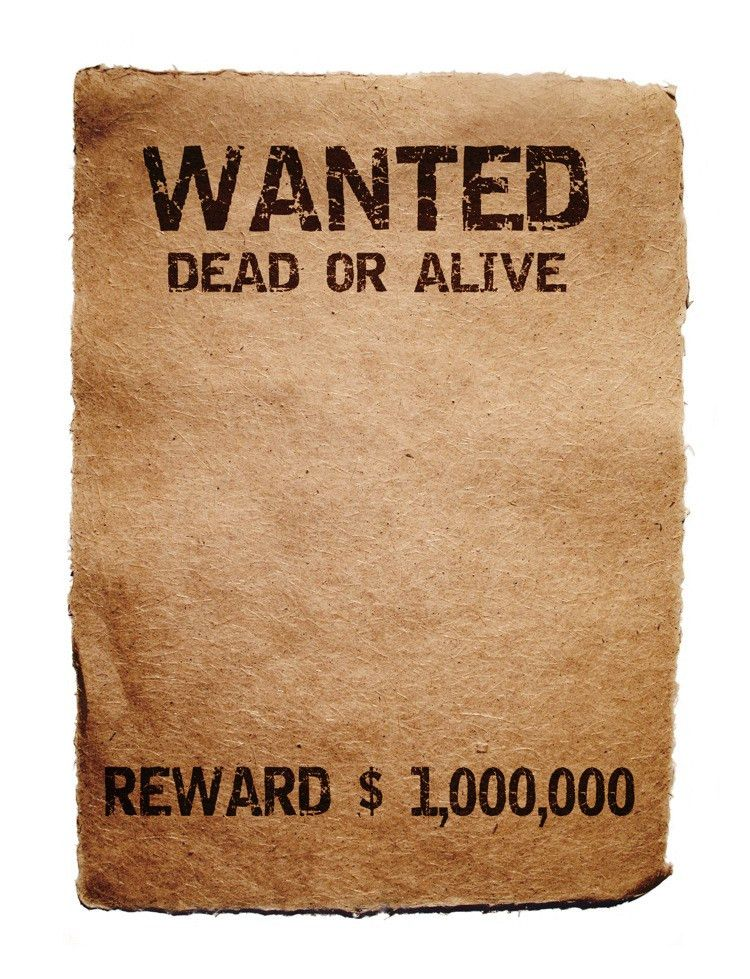 10 Best Images of Funny Wanted Posters Templates - Blank Most ...