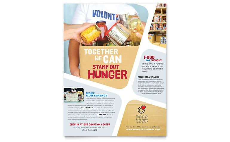 Food Bank Volunteer Flyer Template - Word & Publisher