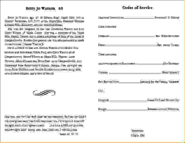 11 funeral program templateAgenda Template Sample | Agenda ...
