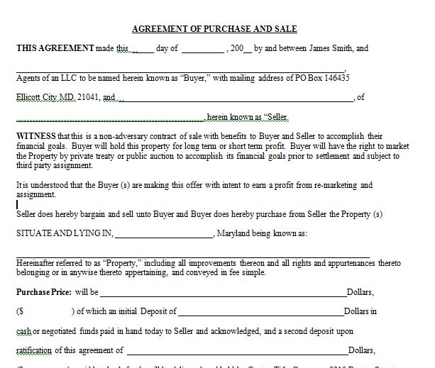 Simple Skinny SMALLEST Real Estate Contract Agreement Available ...