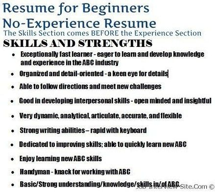 Resume Sample No Experience No Experience Resume Sample ...