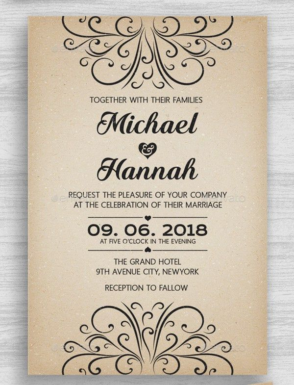 Invitation Card Simple Design | Professional resumes sample online