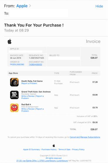 Apple invoice scam | Himsworths LegalHimsworths Legal