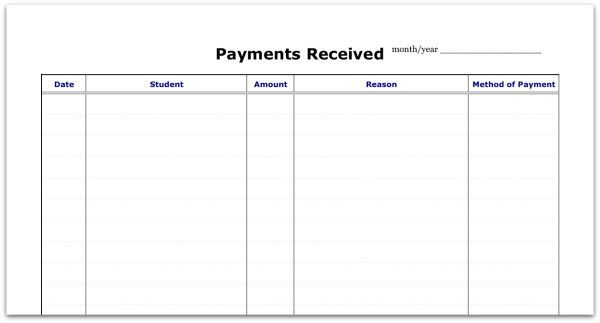 PDF Updated for 2014-15: Record of Lesson Attendance & Payment ...